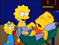 The Simpsons 08x17 : My Sister, My Sitter- Seriesaddict